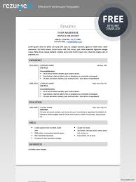 Perfect Resume Templates Magnificent Free classic resume template Basic resume templates Pinterest