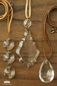 how to create beautiful chandelier crystal necklaces this is such a fun way to repurpose