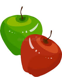 green and red apples clipart. download green, red apples, brown roots, slices on white background, hand drawing green and apples clipart