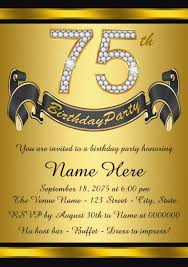 Personal Invitations Birthday The Best 75th Birthday Invitations And Party Invitation Wording Ideas