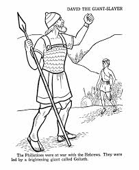Small Picture David and Goliath Coloring Page Bible Coloring Pages Pinterest