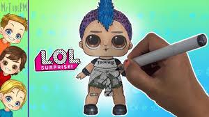 Lol Dolls Coloring Lol Punk Boi New Lol Punk Boy Lol Doll Punk