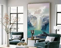 abstract oil painting contemporary art hand paint large art extra large wall art landscape oil painting blue painting large canvas art  on extra large living room wall art with extra large wall art etsy