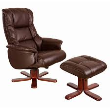 luxury leather recliner chairs. shanghai swivel chair \u0026 footstool in nut brown with cherry base luxury leather recliner chairs