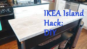 Ikea Island Top Hack Diy Youtube