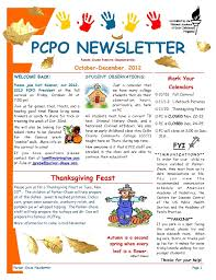 october newsletter ideas pcpo october december 2012 newsletter