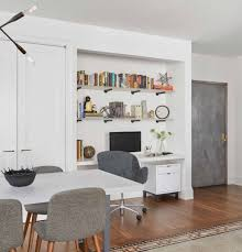 contemporary kitchen office nyc. Open To The Dining Area, We Created A Desk Niche Which Complements Contemporary Kitchen, Offering Chic Design Solution For An At-home Office Space Kitchen Nyc