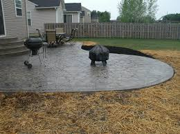 concrete patio with square fire pit. Driveway Pavers Home Depot Diy Paver Patio Cost Benefits Of Stamped Concrete Modest Decoration Endearing Fountain With Square Fire Pit