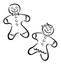 Small Picture Gingerbread Boy and Girl Coloring Pages Free Printable Coloring