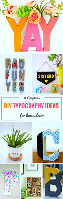 Small Picture 31 Gorgeous DIY Typography Ideas for Home Decor Sarah Titus