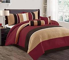 luxury comforter sets. Brilliant Sets JBFF 7 Piece Bed In Bag Microfiber Luxury Comforter Set Queen Burgundy Intended Sets X