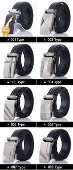 Types Of Designer Belts Ck Ice Men Leather Belt Cheetah Metal Buckle Automatic