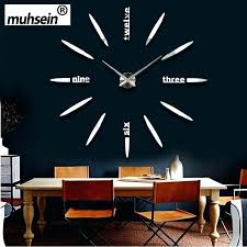 diy modern wall clock new limited quartz watch big mirror sticker metal wall clock modern art