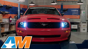 2006 Mustang Halo Lights 2005 2009 Mustang Black Projector Headlights Led Halo Review