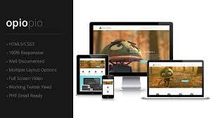 website template video opiopio responsive miltipurpose html5 website template with full