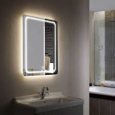 bathroom mirrors with led lights. Image Is Loading 28-034-Rectangular-Wall-Mirror-LED-Light-Beveled- Bathroom Mirrors With Led Lights I
