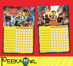 Printable Lego Movie Theme Personalized Behavior Chart By