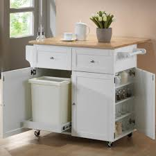 Kitchen:White Portable Island For Small Kitchen With Small Shelves And  Lacquered Wood Top Offer