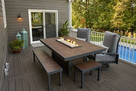 kenwood dining table with built in gas