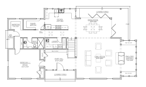 back right elevation in b w first floor plan
