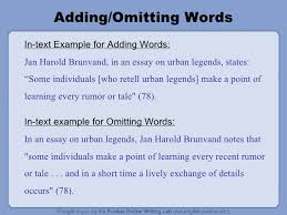 In Text Citation For Website Mla The Owl Mla Formatting Power Point