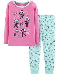 Display product reviews for Snug Fit Astronaut Cotton PJs Baby Girl Pajamas \u0026 Sleepwear | OshKosh Free Shipping