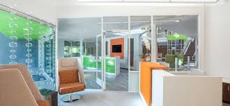 office reception decorating ideas. Modern Office Reception Backdrop Design Area With Cantilevered Decorating Ideas