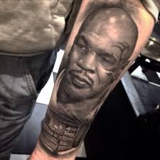 черно серый портрет майка тайсона фото татуировок