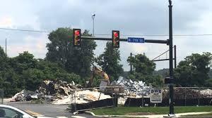 Light Demolition Work Demolition Work At Site Of Bertolino Builing In Harrisburg