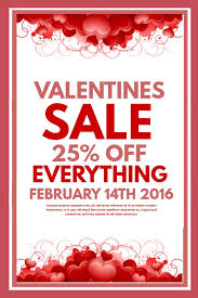 sale flyers modern valentines day retail sale flyer template click to