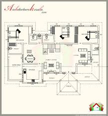 2500 square feet kerala style house plan with three
