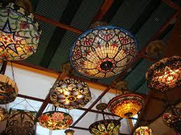 insider tiffany flush mount ceiling light semi lights style modern design