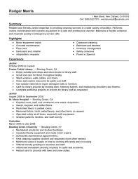 custodian resume sample  best business template