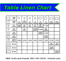 Round Table Linen Chart Linens Rentals Tx Call The Best
