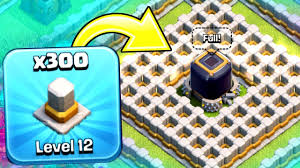 worlds first 300 level 12 wall barrier clash of clans