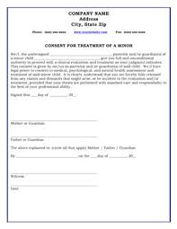 Hipaa Consent Forms Best Consent For Treatment Of A Minor Form