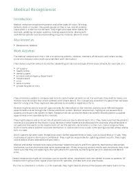 Best Ideas Of Stunning Resume Cover Letter Receptionist Brilliant
