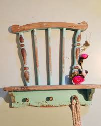 vintage chair shelf farmhouse wall unit hook rack shabby chic racks for storage 5968dcb7dcdec865adaeb18cb7a