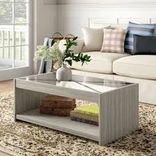 it modern farmhouse style coffee table with glass top