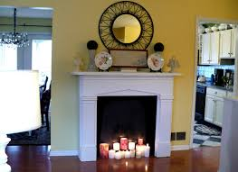 Decorate Your Home With Fake Fireplace Ideas: Faux Fireplace With Candles