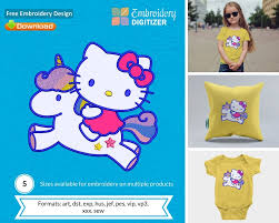 Free Applique Embroidery Designs To Download Kitty Riding Unicorn Applique Embroidery Design Free