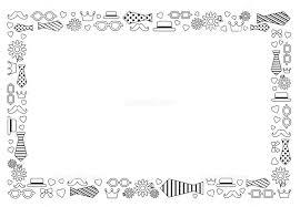 父の日のフレーム 白黒 イラスト素材 5440693 フォトライブラリー
