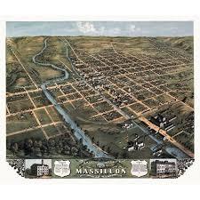 Walmart Massillon Ohio Historic Map Of Massillon Ohio 1870 Stark County Stretched Canvas 36 X 54