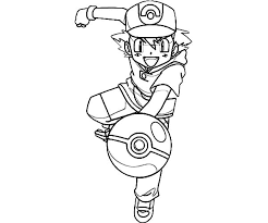 Small Picture Ash Ketchum Ash Ketchum Fighting Style On Pokemon Coloring Page