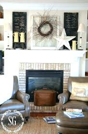 wall decor above fireplace simple farmhouse style winter mantel full shot decor above fireplace ideas for