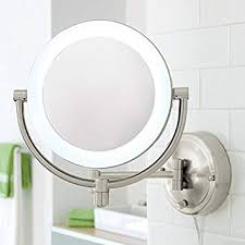 10x 1x natural light wall mirror