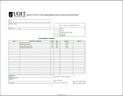 petty cash reimbursement template mileage reimbursement request form template expenses forms