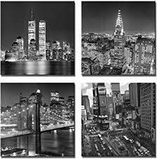 yin art new york city canvas print black and white brooklyn bridge empire state building on canvas wall art new york city with amazon new york city nyc skyline skyscraper canvas print wall