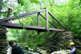 build a bridge over a creek bridge over kill creek is nearly complete