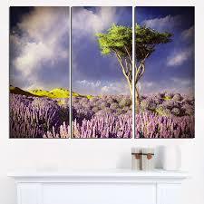 tree in lavender field modern landscape wall art on lavender fields wall art with tree in lavender field modern landscape wall art modern wall art